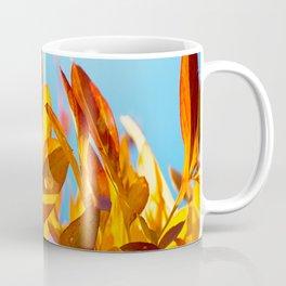 Autumn colors leaves against the blue sky #decor #society6 Coffee Mug