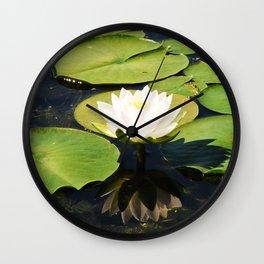 Summer water lily Wall Clock