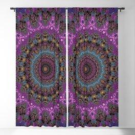 colorful fractal kaleidoscope Blackout Curtain