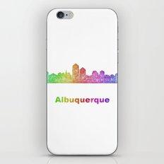 Rainbow Albuquerque skyline iPhone & iPod Skin