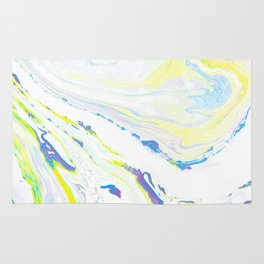 Blue & Yellow Marbling Rug