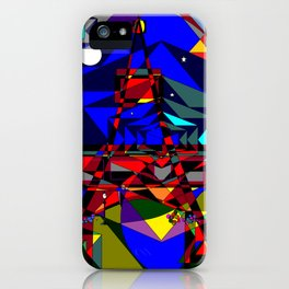 Abstract of Paris in the Spring with Stars iPhone Case