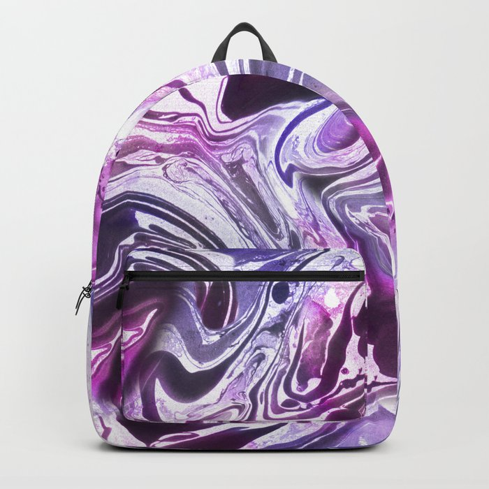 Marble Pattern Purple Pink Abstrat Backpack