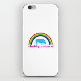 Chubby unicorn iPhone Skin