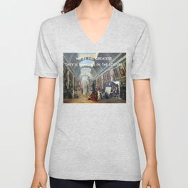 The Greatest in the Grande Galerie du Louvre Unisex V-Neck