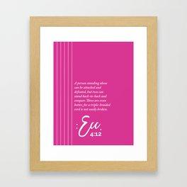 Ecc. 4:12 Print Framed Art Print