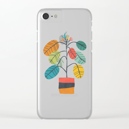 Potted plant 2 Clear iPhone Case