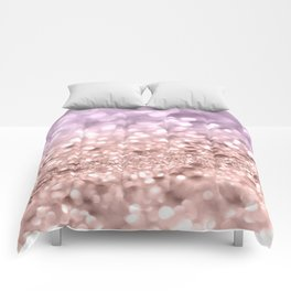 Rose Gold Blush Purple MERMAID Girls Glitter #1 #shiny #decor #art #society6 Comforters