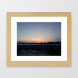 MI Sunset Framed Art Print