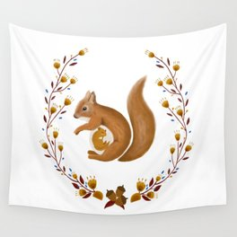 Pregnant Squirrel Wall Tapestry