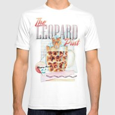 The Leopard Pint Mens Fitted Tee MEDIUM White