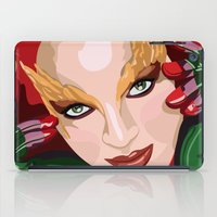 poison ivy iPad Cases featuring Poison Ivy  by Jordi Hayman Design