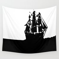 ship Wall Tapestries featuring SHIP by Trokola