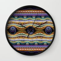 stripe Wall Clocks featuring stripe by Antracit