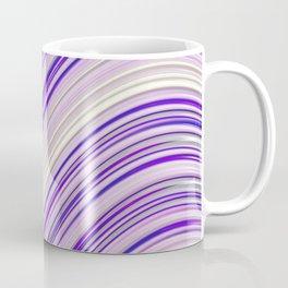 Wavy Purple Stripes Coffee Mug