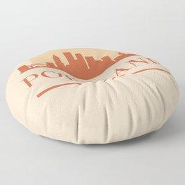 PORTLAND OREGON CITY SKYLINE EARTH TONES Floor Pillow