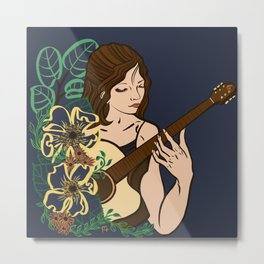 Nature of Music Metal Print