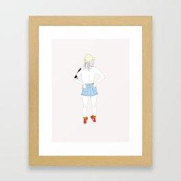 Free The Nipple Framed Art Print