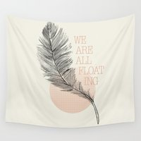 feather Wall Tapestries featuring Feather by Koning