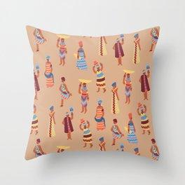 Nigerian Girls Throw Pillow
