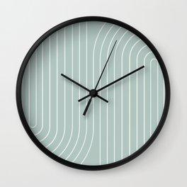 Minimal Line Curvature - Sage Wall Clock