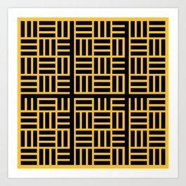 The Black lines pattern Art Print