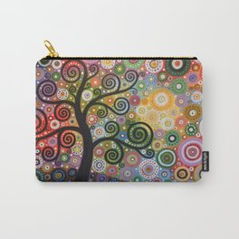 Abstract Art Landscape Original Painting ... Tree of Wishes Carry-All Pouch