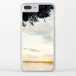Crisp Lakeside Mornings Clear iPhone Case