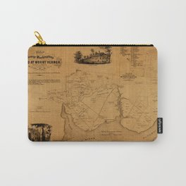 Map Of Mount Vernon 1859 Carry-All Pouch