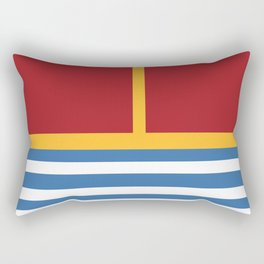 vintage primary colors Rectangular Pillow