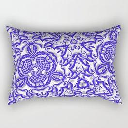 Blue antik lace Rectangular Pillow