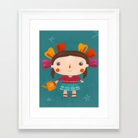 lolita Framed Art Prints featuring Lolita by Gabriela Granados