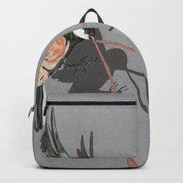 Great Tits Bird Ribbon Grey Backpack