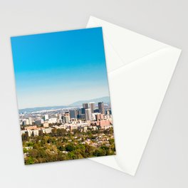 Clear and Sunny Lalaland to Downtown Los Angeles Views Stationery Cards
