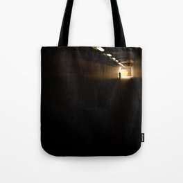 Old lady light at the end of the tunnel Tote Bag