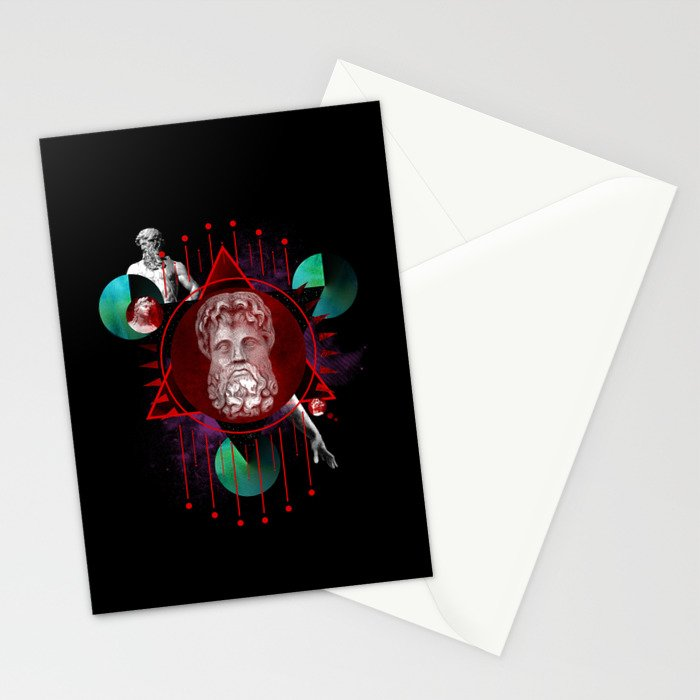 Geometric Gods Stationery Cards