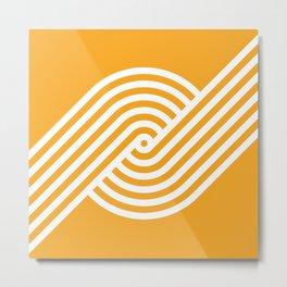 Incurve [Orange] Metal Print