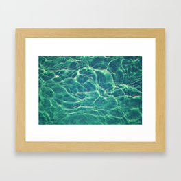 Electric Water Framed Art Print