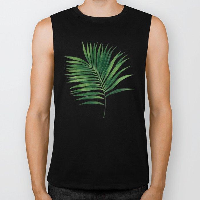 Palm leaves IV Biker Tank