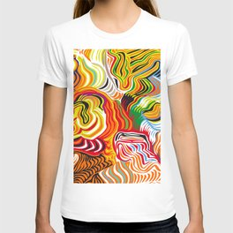 colored flow T-shirt