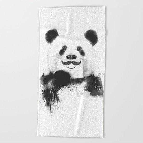 Funny panda Beach Towel