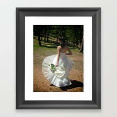 Wedding Flare | Bride Framed Art Print