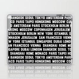 Famous City pattern black & White Laptop & iPad Skin