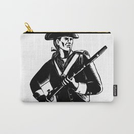 American Patriot Scratchboard Carry-All Pouch