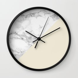 Marble + Pastel Cream Wall Clock