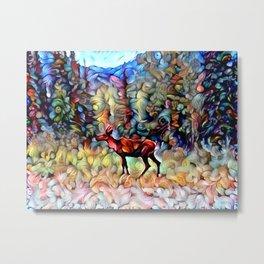 Dreamy Caribou Metal Print