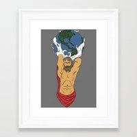 atlas Framed Art Prints featuring Atlas  by Robert Payton