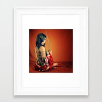 tatoo Framed Art Prints featuring Tatoo by n23art