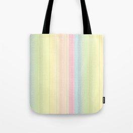 Jiggle Stripes - Pastels Glimmer Rainbow Tote Bag