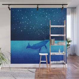 Whale Spouting Stars - Magical & Surreal Wall Mural